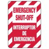 Bilingual Emergency Shut-Off Safety Signs