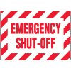 Voltage Warning Labels - Emergency Shut-Off