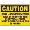 Caution Keep Clear - Voltage Warning Labels