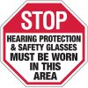 Hearing Protection & Safety Glasses Must Be Worn Sign