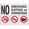 No Smoking, Eating, or Drinking Door and Window Labels
