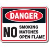 Danger No Matches Sign
