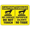 Bilingual Caution Hot Surface Safety Sign