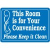 Keep This Room Clean Signs