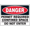 Permit Required Machine Danger Labels