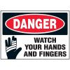 Watch Hands Machine Danger Labels