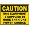 Power Source Machine Caution Labels