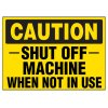 Shut Off Machine Warning Markers