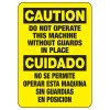 Bilingual Do Not Operate Sign