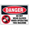 Do Not Wear Gloves Warning Markers