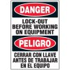 Bilingual Lock Out Equipment Label