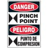 Bilingual Danger Pinch Point Label