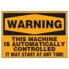 Machine Is Automatically Controlled Warning Markers