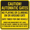 Caution Automatic Gates Signs