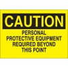 Caution Protective Equipment Required Sign