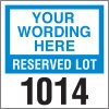"Custom 3"" x 3"" Window-Mount Parking Permits"