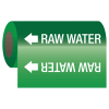 Raw Water - Self-Adhesive Pipe Markers-On-A-Roll