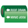 Roof Drain - Self-Adhesive Pipe Markers-On-A-Roll