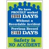 Proudly Worked Without Recordable Accident Scoreboard