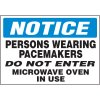 Notice Persons Wearing Pacemakers Label