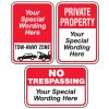 Semi-Custom Worded Signs - Parking Lot Security