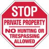 Stop Private Property Security Sign