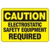 Electrical Safety Signs - Caution Electrostatic Equipment Required