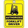 Authorized Forklift Driver ID Tags