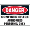 Authorized Personnel Confined Space Labels