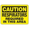 Caution Respirators Required Sign