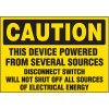 Device Powered By Several Sources - Voltage Warning Labels