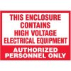 Voltage Warning Labels - High Voltage