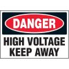 Voltage Warning Labels - Danger High Voltage