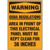 Voltage Warning Labels - Warning Keep Area Clear