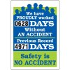 Have Worked Without An Accident Scoreboard
