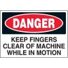 Keep Fingers Clear Warning Markers