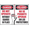 Bilingual Do Not Operate Warning Markers