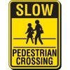 Slow Pedestrian Crossing Sign