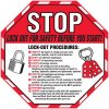 Stop Lock Out For Safety Wallchart
