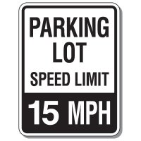 Parking Lot Speed Limit Signs - 15 MPH