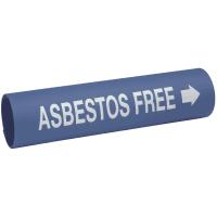 Asbestos Free - Setmark® Snap-Around Pipe Markers