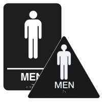Men - California Code Economy Restroom Signs