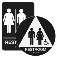 Restroom (Accessibility) - California Code Economy Restroom Signs