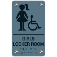 Girls' Locker Room (Accessibility) - Premium ADA Facility Signs