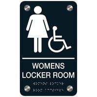 Women's Locker Room (Accessibility) - Premium ADA Facility Signs