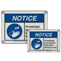 ToughWash® Encapsulated Signs - Notice All Employees