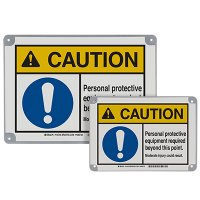 ToughWash® Encapsulated Signs - Caution PPE Required