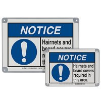 ToughWash® Encapsulated Signs - Hair Covering Required