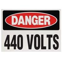 Voltage Warning Labels - Danger 440 Volts