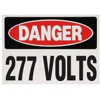 Voltage Warning Labels - Danger 277 Volts